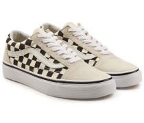 Bedruckte Sneakers Old Skool aus Leder und Veloursleder