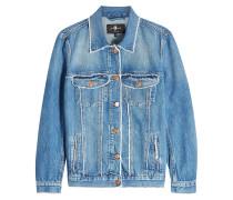 Oversized Jeansjacke mit ausgefransten Säumen