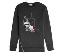 Besticktes Sweatshirt NYC Ice Skating