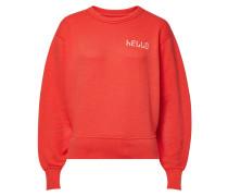 Besticktes Sweatshirt Hello aus Baumwolle