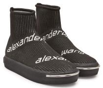 Gemusterte Sock Sneakers Pia aus Mesh