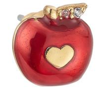 Vergoldeter Ohrring Apple mit Kristallen