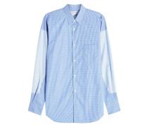 Gestreiftes Hemd aus Baumwolle im Patchwork Look