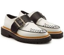 Leder-Loafers Mason mit Zierriegel und Webdetail