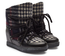 Wedge Ankle Boots Nowles aus Schurwolle und Leder