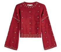 Pullover aus Wolle mit Décor