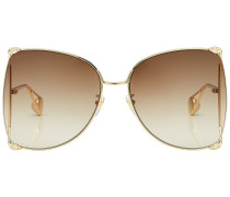 Statement-Sonnenbrille mit Metallrahmen
