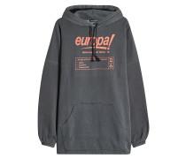 Oversized Hoodie Europa aus Baumwolle mit Print
