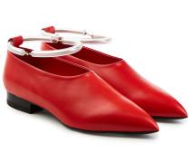 Loafers aus Leder mit Plexiglas-Riemen