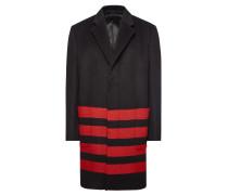 Gestreifter Mantel aus Wolle und Alpakawolle