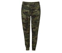 Sweatpants aus Baumwolle mit Camouflage-Print
