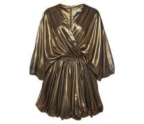 Wickelkleid im Metallic Look