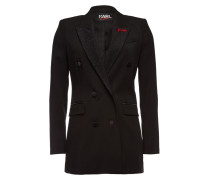 Verzierter Tuxedo-Blazer aus Schurwolle