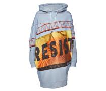 Bedruckter oversized Hoodie Resist Grunge aus Baumwolle