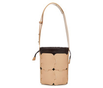 Bucket Bag aus Leder im Patchwork Look