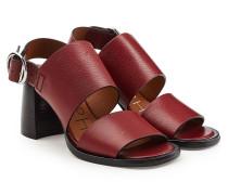 Sandalen aus Leder mit Block Heel