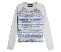 Bouclé-Sweatshirt aus Baumwolle