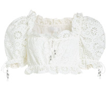 Cropped Off-Shoulder-Bluse Lumino Daisy Bodice aus Baumwolle