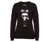 Besticktes Sweatshirt Ikonik Japan aus Baumwolle