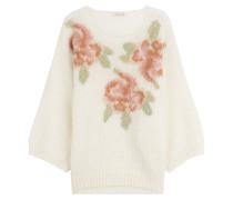 Bedruckter Oversize-Pullover mit Mohair