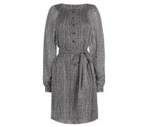 Bedrucktes Kleid Felipa aus Seide