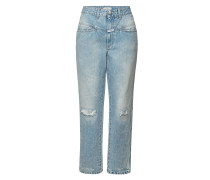 High Waist Jeans Pedal Pusher
