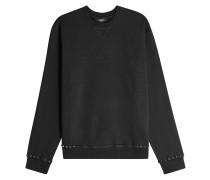 Sweatshirt aus Baumwolle mit Nieten