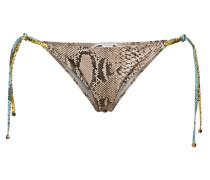 Bikini-Höschen mit Snake-Print