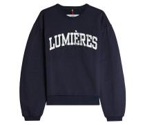 Bedrucktes Sweatshirt aus Baumwolle mit Stickerei