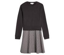 Sweater Dress mit kariertem Rock