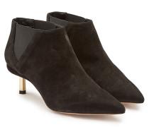 Kitten Heel Ankle Boots Polly aus Veloursleder