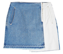 Minirock aus Denim im Patchwork Look