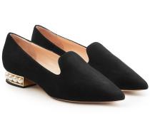 Verzierte Slippers Casati aus Veloursleder