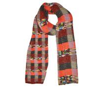 Gemusterter Schal aus Alpakawolle, Wolle und Kaschmir