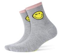 Glitter-Socken Smiley