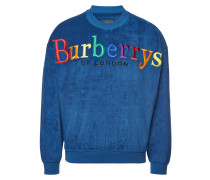 Besticktes Sweatshirt aus Baumwoll-Frottee