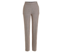 Karierte Straight Leg Pants mit Wolle