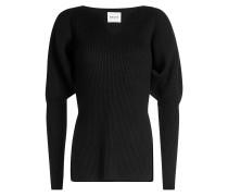 Gerippter Pullover Selena aus Merinowolle