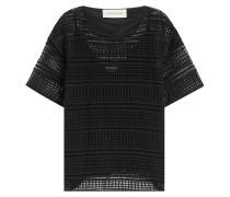 Lochmuster-Shirt aus Baumwolle