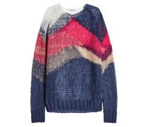 Oversized Pullover mit Mohair und Schurwolle