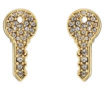 Ohrringe mit Emaille und Kristallen
