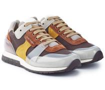 Sneakers Jimmy Label mit Veloursleder und Mesh