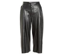 Cropped Pants aus Leder