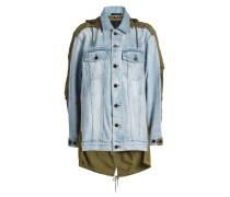 Jeansjacke im Layer Look