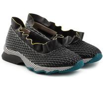 Lederballerinas im Sneaker-Look