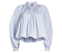 Plissierte Bluse Isabelle mit Baumwolle