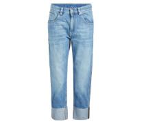 Cropped Jeans mit umgeschlagenem Saum
