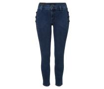 Mid Rise Skinny Jeans mit Knöpfen