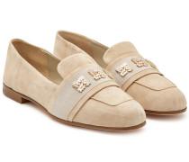 Verzierte Loafers Claire aus Veloursleder