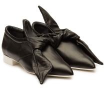 Spitze Loafers aus Leder mit Schleife